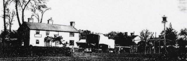 Fair in the grounds of Drinkstone Cherry Tree pub 1885
